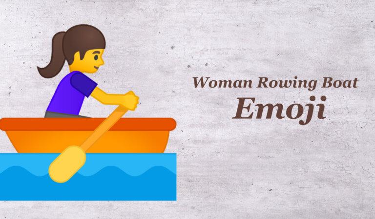 🚣♀️ Woman Rowing Boat Emoji