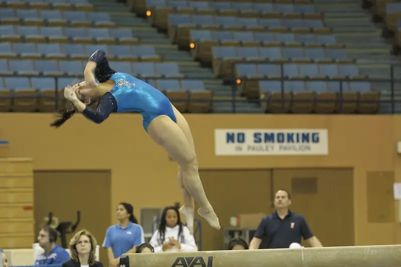 Gymnasts perform a pike or a tuck or some similar moves during the airborne
