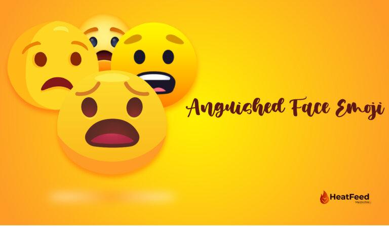 😧 Anguished Face Emoji