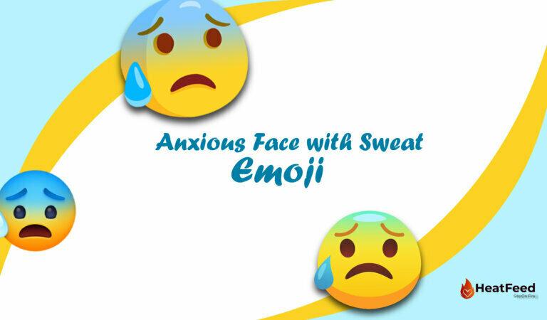 😰 Anxious Face with Sweat Emoji