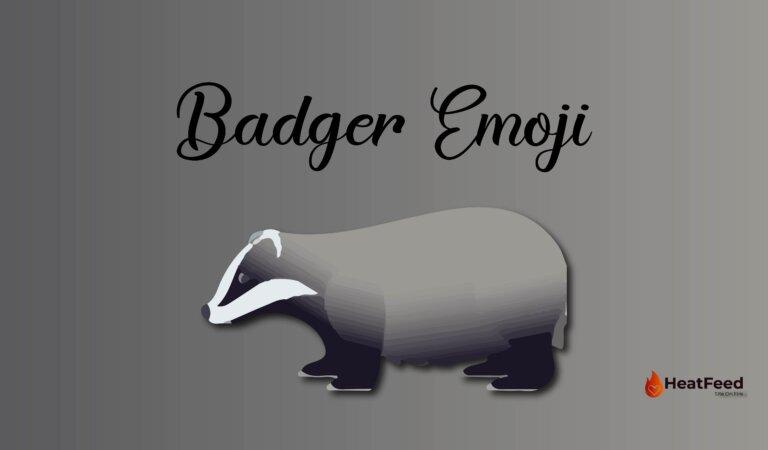 🦡 Badger Emoji
