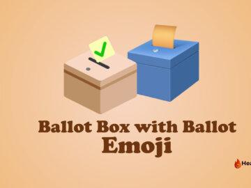ballot box with ballot emoji