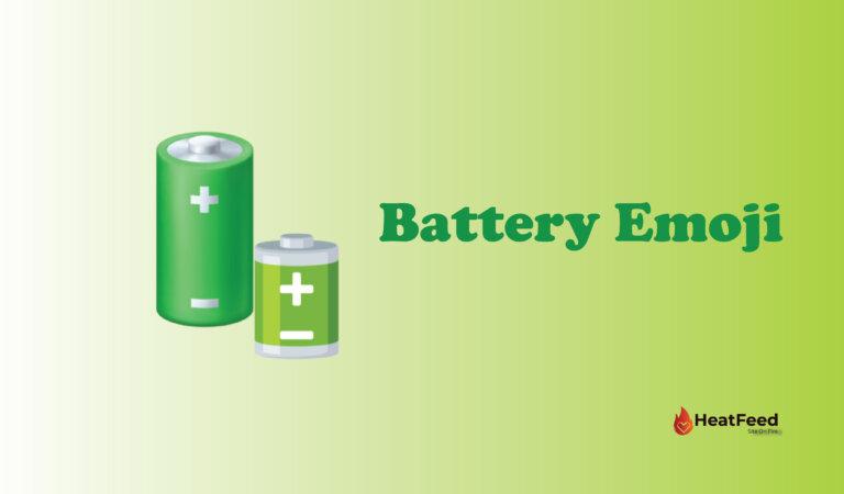 🔋 Battery Emoji