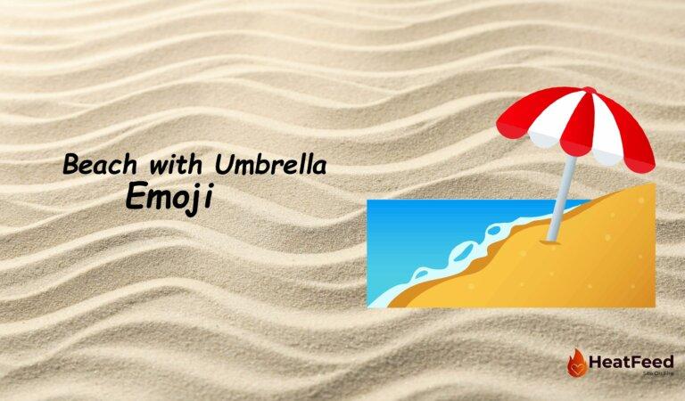 🏖️ Beach with Umbrella Emoji