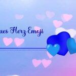Blaues Herz Emoji