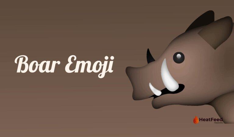 🐗 Boar Emoji