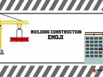 Building construction emoji