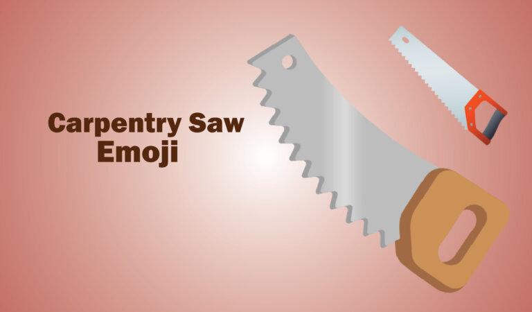  Carpentry Saw Emoji