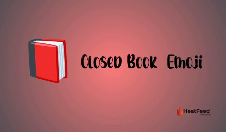📕 Closed Book  Emoji