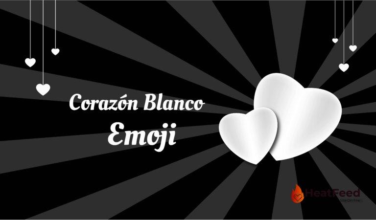 🤍 Emoji de Corazón Blanco