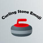 Curling stone emoji