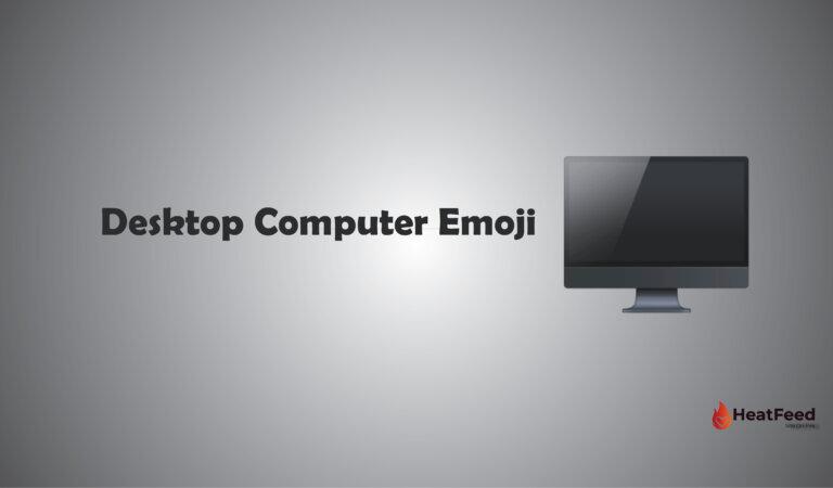 🖥️ Desktop Computer Emoji