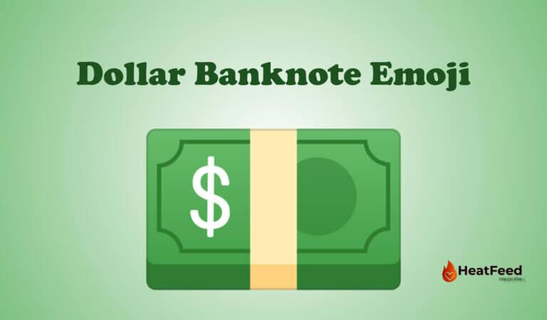 💵 Dollar Banknote Emoji