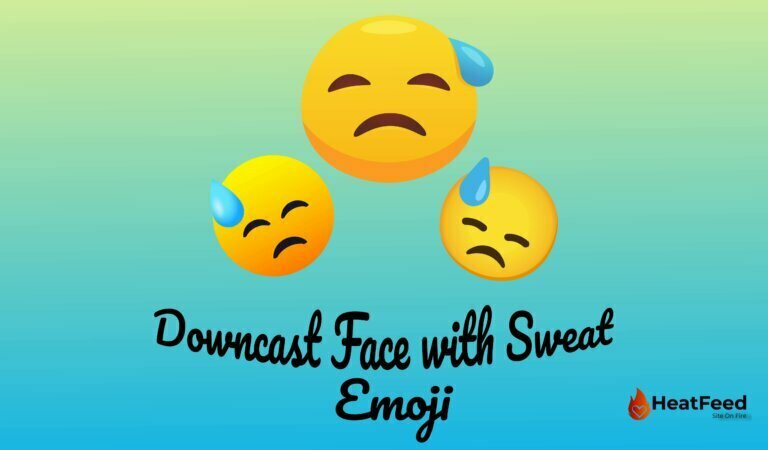 😓 Downcast Face with Sweat Emoji