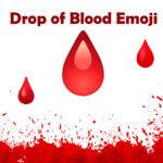 drop of blood emoji