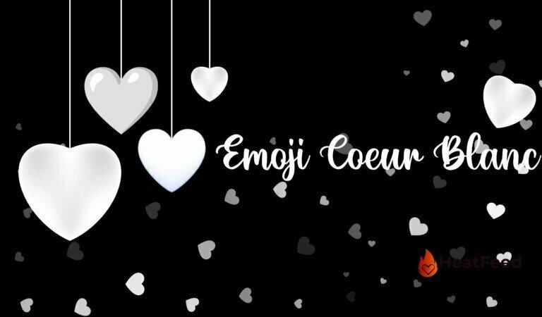 🤍 Emoji Coeur Blanc