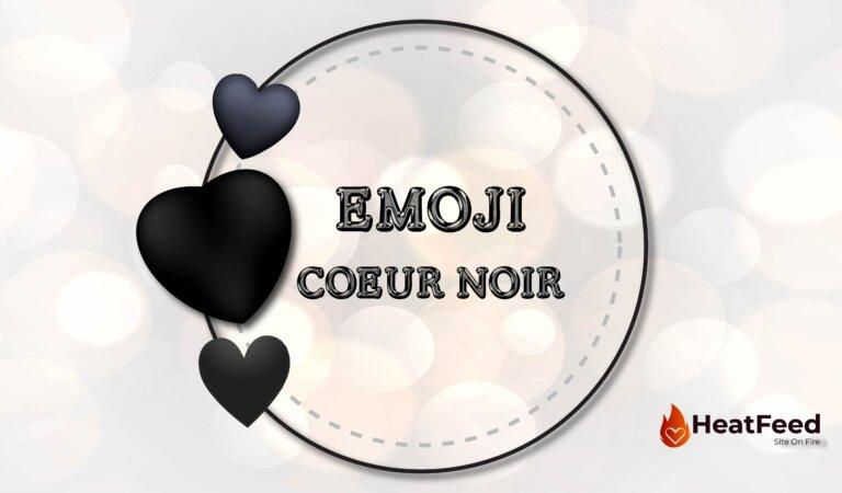 🖤 Emoji Coeur Noir