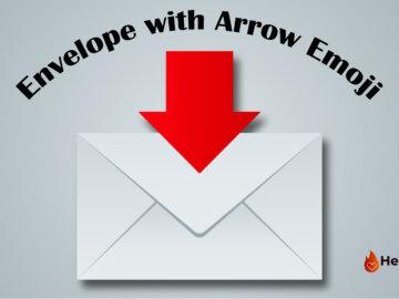 envelope with arrow emoji