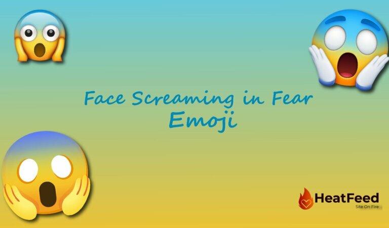 😱 Face Screaming in Fear Emoji