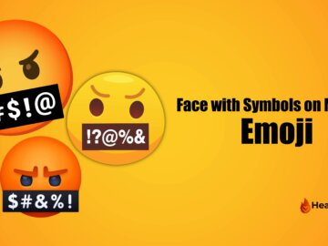 Face with symbols on mouth Emoji
