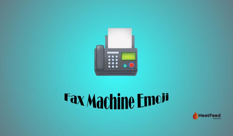 📠 Fax Machine Emoji