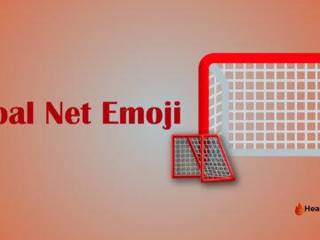 Goal net emoji