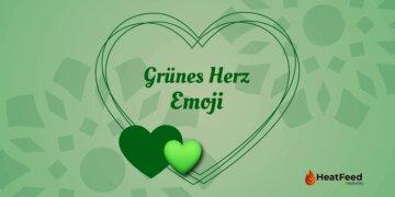 Grünes Herz Emoji