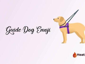guide dog emoji