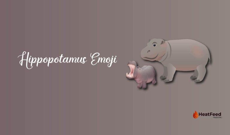 🦛 Hippopotamus Emoji