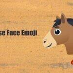 horse face emoji