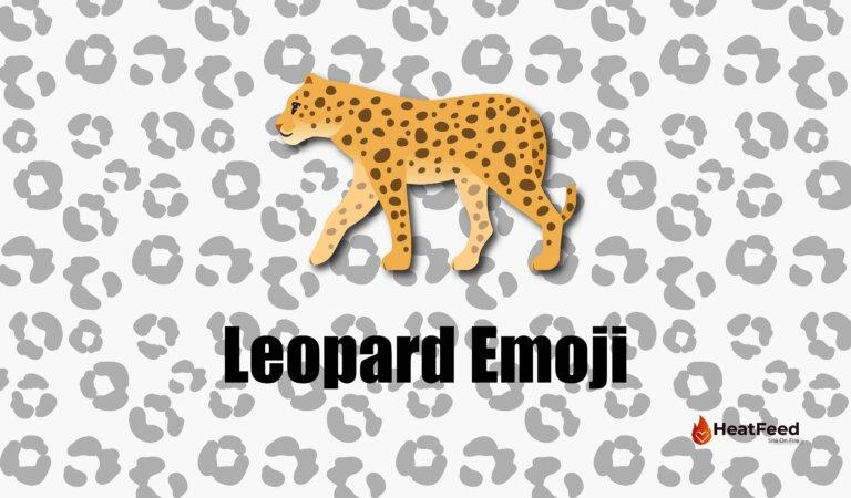🐆Leopard Emoji