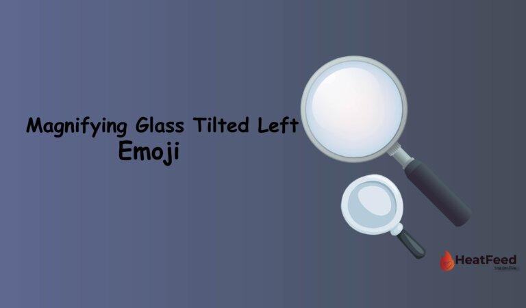 🔍 Magnifying Glass Tilted Left Emoji