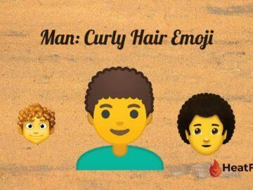 Man curly hair emoji