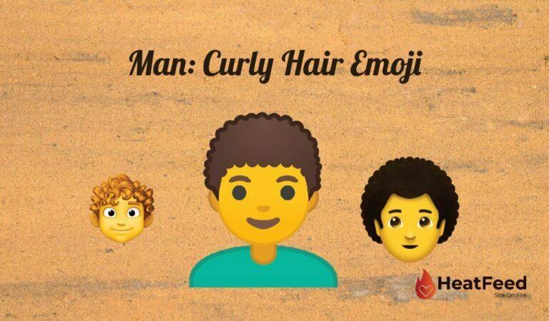 👨🦱Man: Curly Hair  emoji