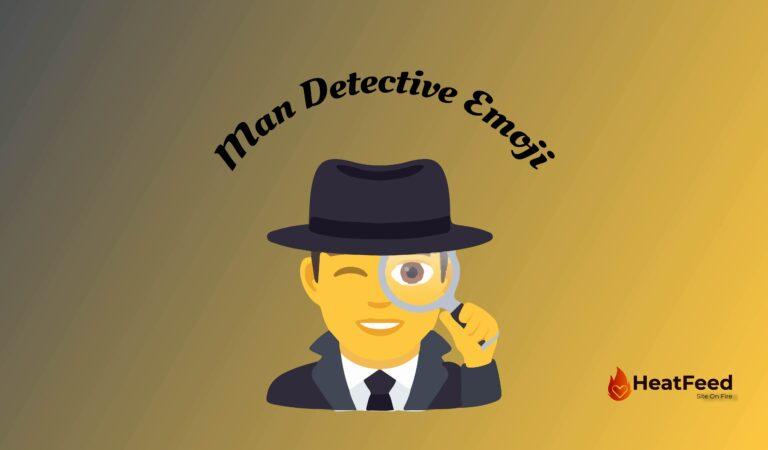 🕵️♂️Man Detective Emoji