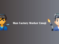Man Factory Worker Emoji