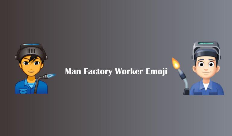 👨🏭 Man Factory Worker Emoji