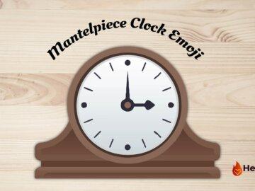 mantelpiece clock emoji