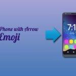 mobile phone with arrow emoji