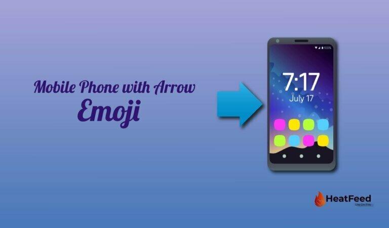 📲 Mobile Phone with Arrow Emoji