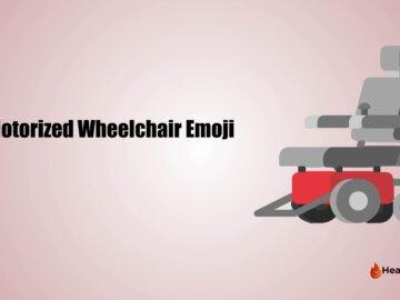 motorized wheelchair emoji