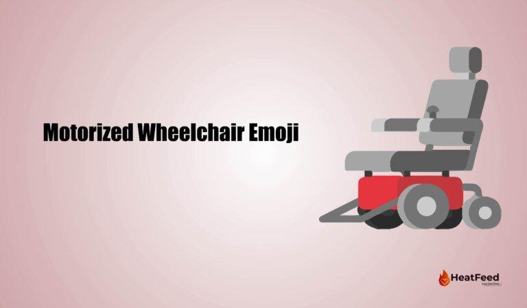 🦼Motorized Wheelchair Emoji