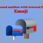opened mailbox with lowered flag emoji