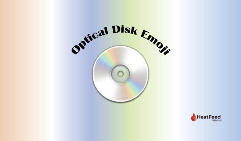 💿 Optical Disk Emoji