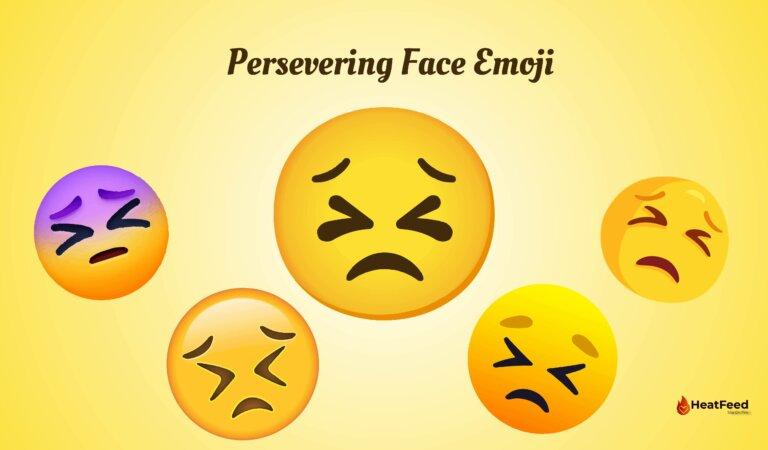 😣 Persevering Face Emoji