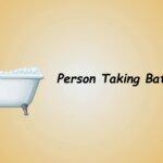 person taking bath emoji