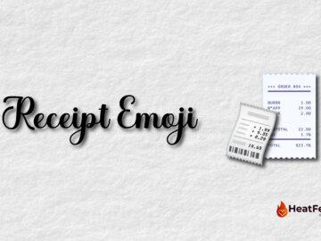 receipt emoji