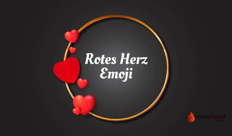 ❤️ Rotes Herz Emoji