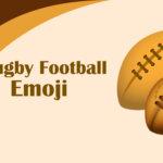 Rugby football emoji