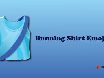 Running shirt emoji